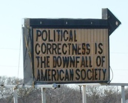 BlueTexasPoliticalCorrectnessSign208SReveley