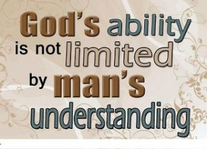 God's ability is not limited